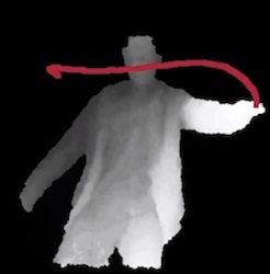 Me drawing with Kinect
